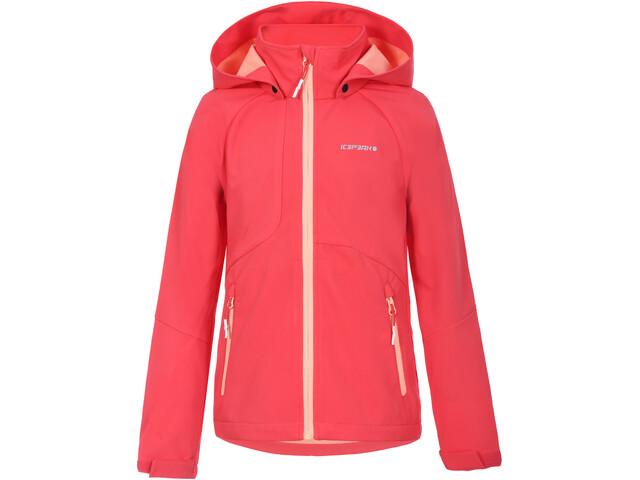 Icepeak Keswick Softshell Jacket Kids, rood